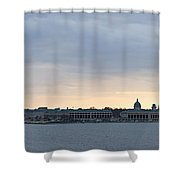 Naval Academy By Day Panorama Shower Curtain