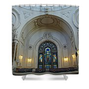 Naval Academy Chapel Side Portal Shower Curtain