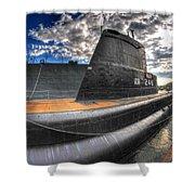 Naval Base At Erie Basin Marina Shower Curtain