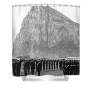 Naval Review At Gibraltar Shower Curtain