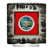Naval Special Warfare Group Three - N S W G-3 - Over Navy S E A Ls Collage Shower Curtain