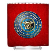 Naval Special Warfare Group Two - N S W G-2 - On Red Shower Curtain