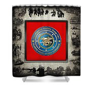 Naval Special Warfare Group Two - N S W G-2 - Over Navy S E A Ls Collage Shower Curtain