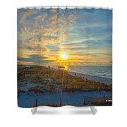 Navarre Beach Sunrise 2014 09 26 01 C 0650 Shower Curtain