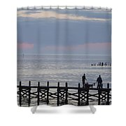Navarre Beach Sunset Pier 10 Shower Curtain