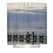 Navarre Beach Sunset Pier 11 Shower Curtain