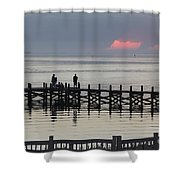 Navarre Beach Sunset Pier 18 Shower Curtain