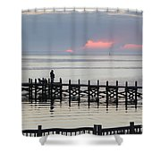 Navarre Beach Sunset Pier 21 Shower Curtain