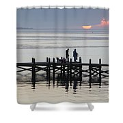 Navarre Beach Sunset Pier 26 Shower Curtain