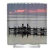 Navarre Beach Sunset Pier 28 Shower Curtain