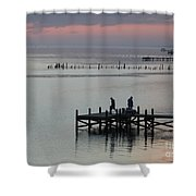 Navarre Beach Sunset Pier 30 Shower Curtain