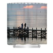 Navarre Beach Sunset Pier 35 Shower Curtain