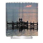 Navarre Beach Sunset Pier 37 Shower Curtain