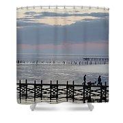 Navarre Beach Sunset Pier 8 Shower Curtain