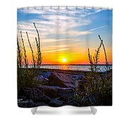 Navarre Fl Sunset 2014 07 29 A Shower Curtain
