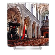 Nave Of The Church Of Our Lady Shower Curtain