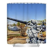 Navel Gun Over Looking Uss Batfish Shower Curtain