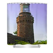 Navesink Twin Lights Lighthouse Shower Curtain