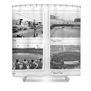 Navin Field Briggs Tiger Stadium Comerica Park Shower Curtain