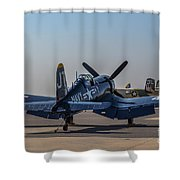 Navy Corsair Shower Curtain