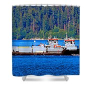 Navy Cover Shower Curtain
