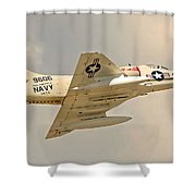 Navy In The House  Shower Curtain