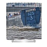 Navy Landing Craft 325 Shower Curtain