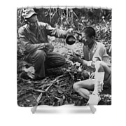 Navy Medic Assists Pow Shower Curtain