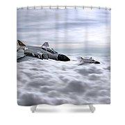 Navy Phantoms Shower Curtain