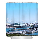 Navy Pier Chicago Il Looking Northeast Shower Curtain