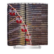 Navy Pier Wheel Chicago Shower Curtain