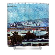Navy Ships As A Painting Shower Curtain
