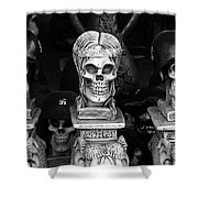Nazi Helmets Skeletons Elephant Statuary Border Town Nogales Sonora Mexico 1968 Shower Curtain