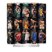 Nba Legends Shower Curtain by Taylan Apukovska