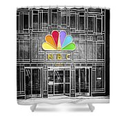 Nbc Facade Selective Coloring Shower Curtain