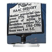 Nc-a30 Isaac Gregory Shower Curtain