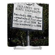 Nc-a37 Elizabeth City State University Shower Curtain