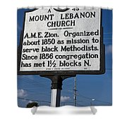 Nc-a43 Mount Lebanon Church Shower Curtain