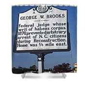 Nc-a54 George W. Brooks Shower Curtain