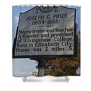 Nc-a61 Joseph C. Price 1854-1893 Shower Curtain