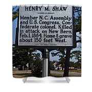 Nc-a62 Henry M. Shaw Shower Curtain