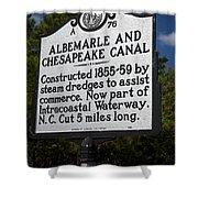 Nc-a76 Albemarle And Chesapeake Canal Shower Curtain