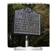 Nc-b1 First English Colonies Shower Curtain