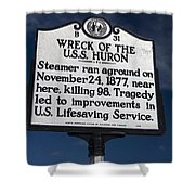Nc-b31 Wreck Of The U.s.s. Huron Shower Curtain