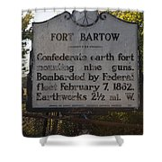 Nc-bbb2 Fort Bartow Shower Curtain