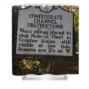 Nc-bbb3 Confederate Channel Obstructions Shower Curtain