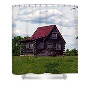 Nc Log Home 2 Shower Curtain