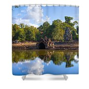 Neak Poan Temple Shower Curtain