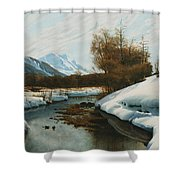 Near La Punt St Morritz In The Engadine Valley Shower Curtain