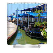 Near The Harbour Shower Curtain